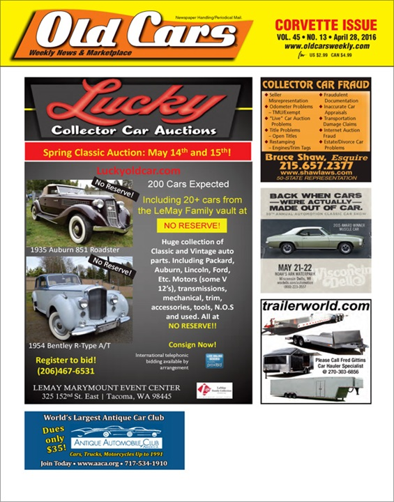 Old Cars Weekly Magazine